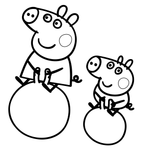 immagine da colorare peppa pig080