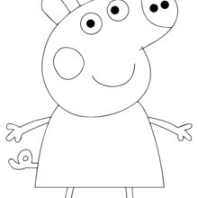 immagine da colorare peppa pig083